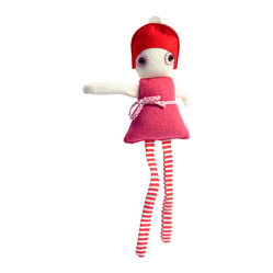 "OOTS! - Sofie Stuffed Toy - Surprise your toddler with an adorable soft doll that's sure to become a favorite lovey. ""Sofie"" is super stylish with a hat a striped tights, but it's her cozy construction that'll win over your little one. She'll also make a great gift for any favorite friends in your playgroup."