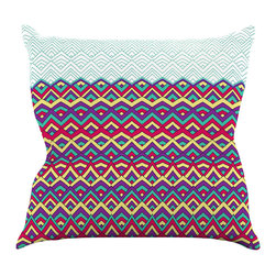 """Kess InHouse - Pom Graphic Design """"Horizons"""" Throw Pillow (16"""" x 16"""") - Rest among the art you love. Transform your hang out room into a hip gallery, that's also comfortable. With this pillow you can create an environment that reflects your unique style. It's amazing what a throw pillow can do to complete a room. (Kess InHouse is not responsible for pillow fighting that may occur as the result of creative stimulation)."""