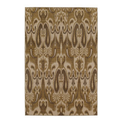 """Karastan - Karastan Bellingham 37150-17206 (Ferndale Wheat) 9'6"""" x 13'2"""" Rug - The Bellingham Collection features muted vintage tones that can easily inspire any decor from casual to traditional. Bancroft Beige is an ornamental patchwork overlaid with tendrils of foliage in a neutral palette."""