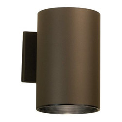 KICHLER - KICHLER Cans & Bullets Hard Contemporary Outdoor Wall Sconce X-ZA6329 - This Kichler Lighting outdoor wall sconce features a warm Architectural Bronze finish that gives an unexpected look to the clean lines and modern shape. From the Cans & Bullets Collection, this light fixture will effortlessly compliment a number of different architectural styles. Dark skies compliant.