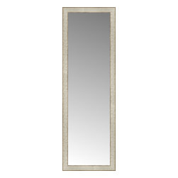 """Posters 2 Prints, LLC - 16"""" x 48"""" Libretto Antique Silver Custom Framed Mirror - 16"""" x 48"""" Custom Framed Mirror made by Posters 2 Prints. Standard glass with unrivaled selection of crafted mirror frames.  Protected with category II safety backing to keep glass fragments together should the mirror be accidentally broken.  Safe arrival guaranteed.  Made in the United States of America"""