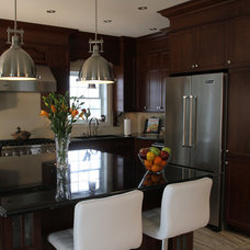 Contemporary Kitchen Cabinetry by Cuisine Ideale