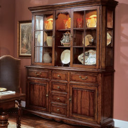 Hooker Furniture - Hooker Furniture Waverly Place Glass Door Hutch 366-75-901 - The Waverly Place Collection is crafted from hardwood solids, cherry veneers with natural imperfections.