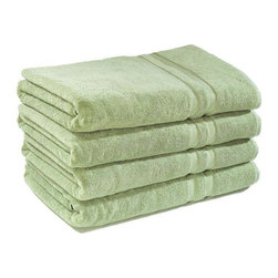 """Home Decorators Collection - Home Decorators Collection Towels - Luxurious and soft to the touch, our Home Decorators Collection Towels are made of 100% 800-gram cotton with dobby borders at both ends. Whether monogrammed or not, our heirloom-quality bath linens are a lovely addition in any bathroom. 100% heavy-weight cotton. Available in a variety of lush colors. All items but the washcloth may be monogrammed for an additional cost. Monogramming will be above the woven area (dobby). Monogramming size is 3"""" on the bath towel, bath sheet and bath mat and 2.5"""" on the hand towel. Please allow three weeks for receipt of monogrammed items."""