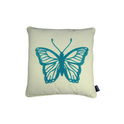Lava - Butterfly Teal 18X18 Pillow (Indoor/Outdoor) - 100% polyester cover and fill.  Imported.  Spot clean only