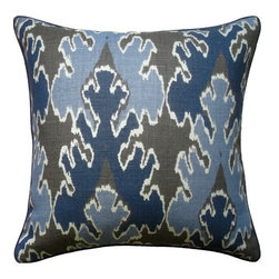 Bengal Bazaar Indigo Pillow - Add an exotic flair to your interior in a tailored, subtle way with this gorgeous reversible printed pillow. Available in two sizes, the Bengal pillow is ideal for dressing up a couch and mixes perfectly with any neutral.