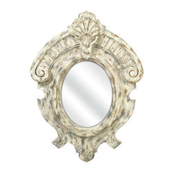Fleming Mirror - This rustic French inspired mirror's ornate look gives any room a refined appearance.