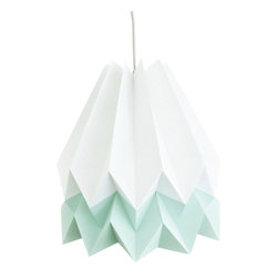 Inova Team -Modern Origami Ceiling Light Shade, White/Mint - The Origami Shade is a lightweight, functional work of art with heart. With an emphasis on environmentally conscious construction, its complex geometry reflects the charitable cause it supports, the Adobe For Women Association, which empowers women in Mexico to build their own homes and earn a viable living. This two-tone shade in mint and white provides a cool, dreamy glow whether you're curling up with a good book or setting the mood for an evening fiesta.
