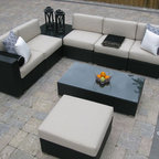 Patio Furniture Deep Seating - Our Casa Madrid outdoor sectional is completely modular. You can customize these sectional pieces to your space. Once you create the layout choose your choice of Sunbrella cushions. This collection also includes matching dining sets.