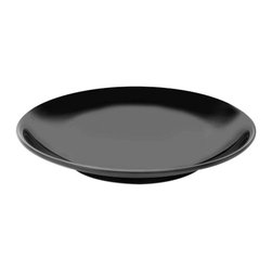 Elite Global Solutions - Black Foundations 17 Dia x 2 H Round Platter - Case of 3 - Robust creations must be built upon a solid foundation to withstand the test of time. This collection will ensure that your layout remains intact until every last crumb is consumed.