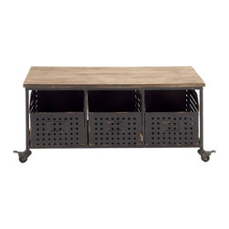 Attractive Fancy Metal Wood Storage Cart - Description: