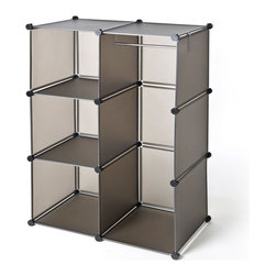 Seville - Seville Classics Cube Closet Organizer - Organize your belongings in style using this Seville plastic closet organizer. Thanks to the unique grid system, this organizer makes it easy to quickly locate what you need. With its stackable design, this system can be easily expanded.