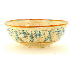 Artistica - Hand Made in Italy - DOMITIA: Serving Bowl - DOMITIA Collection: The Domitia is an exclusive design for Artistica by the Umbrian renown artist Rale of OperaNova.