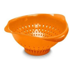 Preserve Large Colander - Orange - 3.5 Qt - Made in USA from 100% Recycled Materials Including Food Storage Containers