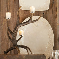 Faux Antler Votive Holder - You can't have a hunt-inspired group without a few antlers. I love the whimsical look of this faux antler votive holder. I would probably use it all over the house, depending on the occasion, but it would be a great console table centerpiece or addition to a Thanksgiving buffet.