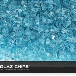 1/4 Inch Azuria Fireglass (10lbs) - Azuria fireglass is a natural for the bluish glow of gas-fired fireplaces and firepits.
