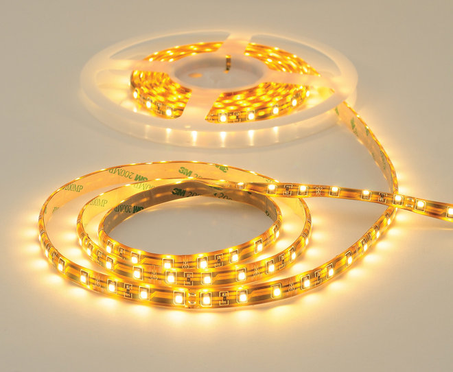 led tape is a flexible circuit board with attached led chips that can ...