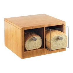 Cal Mil - Bamboo Bread Bin - This minimalistic bread bin boasts of two seperate drawers in adiition to stunning bamboo work. With the ability to stack these bins are great for saving space.