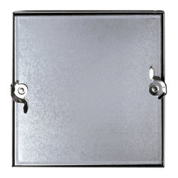 "Best Access Doors - Double Cam Removeable Duct Access Door, Galvanized Steel, 16""x16"" - 16"" x 16"" Double Cam Removeable Duct Access Door   Best Access Doors Duct Access Panels are designed to provide convenient, economical access to duct components. The insulated door panel, along with the gasketing between the door and frame assures a tight seal without obstruction in the air system.  Duct access panels from Best Access Doors are available in either hinged - or double cam - construction.      - Application - Assures a tight seal without obstruction in the air system Product Features - These doors are designed for use in LOW to medium pressure up to 3"" static W.G.- 5/8"" notched knock over tabs on the inside of the frame provide for easy installation   BA-CD-5080 Duct Access Door Speci?�cations: - Door: 24 gauge galvanized steel,double panel- Frame: 24 gauge galvanized steel with 5/8"" notched knock over tabs- Insulation: Door panel ?�lled with 2"" ?�breglass insulation (7.7 R factor), compressed into 1"". - Gasketing: 1/8"" thick by 1/2"" wide closed cell neoprene gasketing between door and frame- Latch: Self tightening, hand operated cam latch"