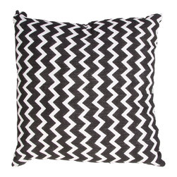 "Jaipur Rugs - Handmade Cotton Black/Ivory/White (18""x18"") Pillow - Mozambique cotton based pillow blocked printed with simple patterns.  These pillows will add a cultural aesthetic to your living area."