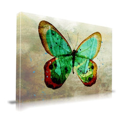 """Apt2B - 'Butterfly' Print by Maxwell Dickson, 24"""" x 36"""" - Let this canvas unfurl its wings and transform your quiet wall into a thing of beauty. Vibrant colors and a tonal background are printed on archival museum-quality canvas and finished with gallery-wrapped edges that are ready to hang. A stunning specimen, to be sure."""