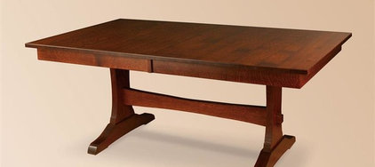 Wasilla Double Trestle Amish Table | Trestle Tables | Amish Dining Room Tables 4