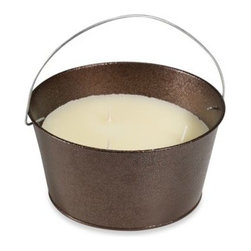 Jay Trends Merchandising Inc. - 3-Wick Citronella Candle in Copper Bucket - Keep bugs away with these cute three-wick citronella candles.