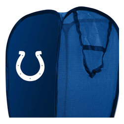 The Northwest Company - NFL Indianapolis Colts Pop-Up Hamper Football Storage Basket - Features: