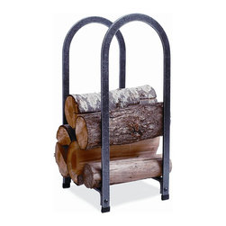 Enclume - Enclume LR5 HS Vertical Arch Rack - LR5 HS VERTICAL ARCH LOG RACK - Hammered Steel Finish This Log Rack adds Charm plus storage. What better way to complement your home d_cor, and comfort! Enclume's biased-bent arches are an Enclume exclusive. The Vertical Arch Rack provides maximum log storage while occupying only a square foot of hearth space. 5 year Limited Warranty.