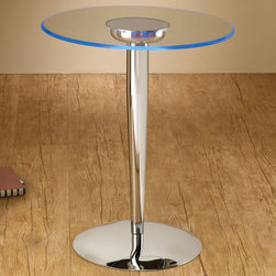 Coaster - 701494 Led Accent Table - Impress your guests and illuminate your room with a LED accent table. Features a tempered glass top and six transitioning LED colors. Requires 3 C batteries (not included).