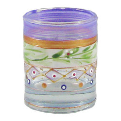 Golden Hill Studio - Mosaic Garland Votive Holder - A thousand (give or take a few) points of light. Each one of these beautifully hand-painted votives will improve your world considerably. You can use them to light up a dark hall, illuminate a coffee table, shed multihued reflections on your dining table or simply offer gentle light during a long relaxing bath.