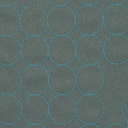 Layers Vineyard Large Slate and Azure Fabric - This soft velvet fabric is very durable and provides a luxurious look and feel for any modern furniture piece.