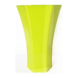 Rose Vase Neon Yellow