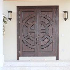 Modern Entry by General Hardwoods & Millwork, Inc.