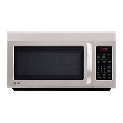 LG - LG OTR 1.8 CF 1100W Microwave SS - Free up some extra space in your kitchen. This over the range microwave comes with LGs own ventilation system for quieter operation. - Stainless Steel