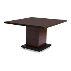 Zuri Furniture - Ford Executive Conference Table - Dark Walnut - Need a small, cozy, classic setting for your next business deal? The Ford contemporary conference table exhibits all the best in class offering an affordable, contemporary solution for any modern meeting space. Beautiful dark walnut wood grain finish. Seats 4 comfortably.