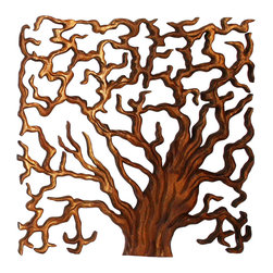 Kammika - Wall Panels Tree of Life Thru 18x18 inch Set of 3 Monkey Pod Wood w Livos Walnut - This Sustainable Monkey Pod Wood with Eco Friendly Natural, Food-safe Livos Walnut Oil Finish Wall Panels Tree of Life Through 18 inch x 18 inch x 1 inch Tri-panel Set shows the body of the tree trunks, the covering with branches, and slice with rings to count the life cycle,. Hand carved using the drill and finger saw method to layout and then chiseled for a 3D look, this is a set of 3 panels. Each panel has two hangers on the back. The concept of a many-branched tree illustrating life has been used in many areas. The Banyan tree and the Peepal tree are often considered to be Trees of Life. The Banyan symbolizes fertility. Appealing to the viewer from any angle, craftspeople from the Chiang Mai area in Northern Thailand create these pieces with the simplest of tools. After each Sustainable Monkey Pod Wood (Acacia, Koa, Rain Tree grown for wood carving) piece is kiln dried, carved and sanded, it is rubbed with Livos Walnut Oil then polished to a matte water resistant finish. Color range is from medium to dark Walnut brown tones that will darken as the wood ages. These natural oils are translucent so the wood grain detail is highlighted. There is no oily feel. No chemicals are used in the process, ever. Made from the thick branches of the quick-growing Acacia tree in Thailand - where each branch is cut and carved to order (allowing the tree to continue growing), after each Eco Friendly Art piece is carved, kiln dried, sanded, and rubbed with oil, they are packaged with cartons from recycled cardboard with no plastic or other fillers. The color and grain of your panels will be unique, and may include small checks or cracks that occur when the wood is dried. Sizes are approximate. Products could have visible marks from tools used, patches from small repairs, knot holes, natural inclusions, and/or worm holes. There may be various separations or cracks on your piece when it arrives. There may be some slight variation in size, color, texture, and finish color.Only listed product included.