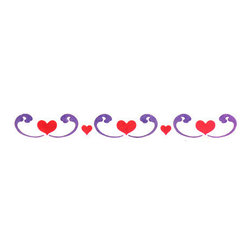 Stencil Ease - Heart to Heart Stencil - Heart to Heart Home Decor Stencil Contains: 2 Stencil Sheets - no packaging - easy-to-use white die-cut mylar with printed registrations guides Actual Size: 1.75 in. High x 9.5 in. Wide