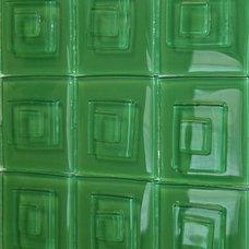 Modern Tile by Studio L. Glassworks