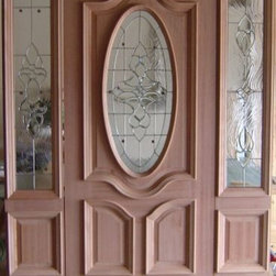 Mahogany Entry doors - Deluxe Mahogany Front Entrance door. Pick up by slab or order to assemble for pre-hung.