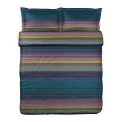 Charlotte Skak - ANDREA SATIN Duvet cover and pillowsham(s) - Duvet cover and pillowsham(s), purple, multicolor