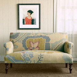 Passion Flower Kilim Love Seat -