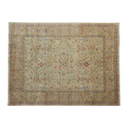 Tabriz Revival Oriental Rug, 8'X10' 300 Kpsi 100% Wool Hand Knotted Rug SH9597 - This collection consists of fine knotted rugs.  The knots per square inch means more material in the rug as well as more labor.  This leads to a finer rug and a more expoensive rug.  Classical and traditional persian motifs are usually used as designs in these rugs.