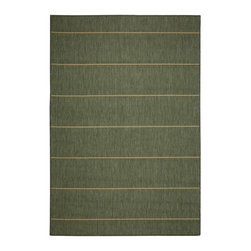 """Pawleys Island - Pawleys Island Palmetto Stripe Porch Rug, Green, 7' 6"""" X 10' 9"""" - A Touch of Indoor Luxury Outdoors"""