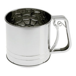 Progressive Housewares - Progressive Housewares GFS-5 5 Cup Triple Screen Flour Sifter - 3056-1807 - Shop for Measuring Devices from Hayneedle.com! About Progressive HousewaresFor over 35 years Progressive Housewares has approached the art of cooking and kitchenware design with the passion and excitement of discovery. Based in the city of Kent Washington the company was established out of a love for the art of cooking and respect for amateur cooks and professional chefs around the world. Today Progressive Housewares understands the contemporary kitchen is more than a workspace. It s the heart of a home where families and friends connect over good food and it s the center of creativity and warmth. The modern kitchen demands a balance between functionality and form and Progressive Housewares provides the broadest range of innovative functional and fun kitchen tools to meet that need. Durable and reliable Progressive Housewares products empower and build confidence in your ability to create nutritious and delicious meals for your family.