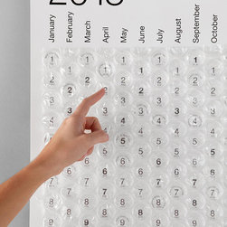 2013 Bubble Calendar - Unleash your inner child with this bubble wrap wall calendar.