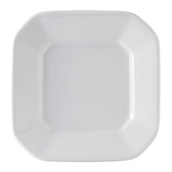 Tuxton - DuraTux 7 x 7 x 1 1/8 Octagon Plate Porcelain White - Case of 12 - DuraTux offers the widest selection of ceramic ovenware and accessory items in the industry. Our products are designed to handle the demands of any fastpaced environment  without breaking your budget. As with our dinnerware products all our ovenware items are fully microwavesafe, ovenproof, and dishwasherfriendly. Trendy, playful, casual, or chic. Our Squares collection can compliment any of our dinnerware collections or stand on their own to create a canvas for each culinary masterpiece.