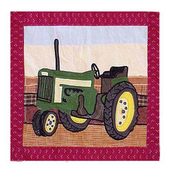 Patch Quilts - Barnyard Toss Pillow 16 x 16 Inch - Decorative applique Quilted Pillow, Bed and Home, Ensembles and Bedding items from Patch Magic,   - Machine washable  - Line or Flat dry only Patch Quilts - TPBARN