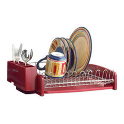 KitchenAid Red Dish Dryer Rack - I love the bold red color of this dish rack. It makes the process of dish washing much brighter!
