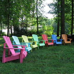 Weathercraft - Adirondack Chair: Designers Choice Painted Adirondack Chair - Shop for Chairs and Sofas from Hayneedle.com! Additional Features Chair back is comfortably designed for total relaxation Ships partially assembled; assembly takes only 5 minutes Seat: 18.25D x 20W inches; Seat height: 13.75 inches The solid and stylish design of the Designer's Choice Painted Adirondack Chair will provide you and your guests with a multitude of fun and dependable decorative options all summer long. These Adirondack chairs are made of sturdy pine wood and available in a wide variety of bright summery colors so you'll have a great time choosing color themes and decorating. Remember this chair is made right here in the U.S.A. That means top-quality American craftsmanship! About WeatherCraft Outdoor Furniture Inc.Just two people started WeatherCraft Furniture in 1988 but out of their small North Carolina garage grew a flourishing outdoor furniture business that today fills an 8 000-square-foot manufacturing plant. Customer service and satisfaction are WeatherCraft's focus evident in the high-quality materials and careful construction used to create the company's signature Adirondack chairs. The lumber used is kiln-dried reducing instances of cracking and making it ideal for natural weathering or painting.